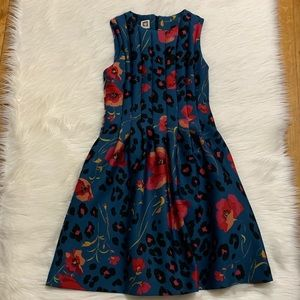 Anne Klein Floral Scuba Sleeveless Dress